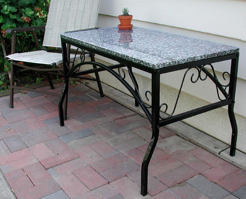 Ingl s jard n granito patio superior reposteria mesas de - Mesa de granito ...