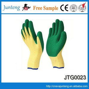 Liner coated Nitrile on palm for 13g safety polyester latex coated hand job gloves