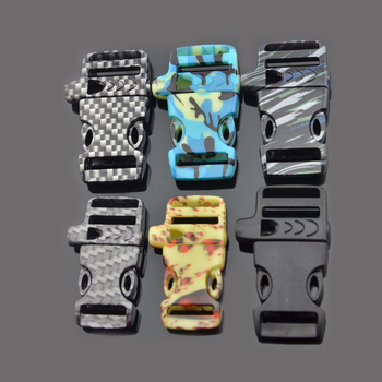 Wholesale Alibaba 3/8 Side Quick Release Camo Plastic Flat Whistle Buckle