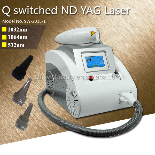 1064 nm 532nm 1320nm q switch nd yag laser tattoo removal machine for freckle removal