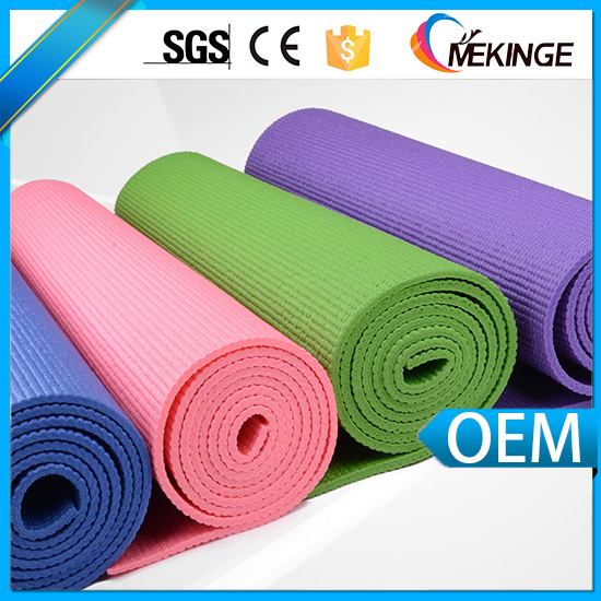 Beautiful multicolor pvc yoga mat/manageable washable tpe yoga mat