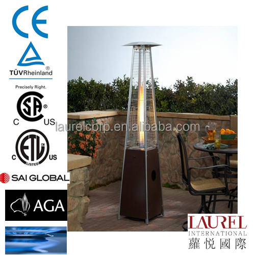 Restaurant Decorative Pyramid Type Flame Lpg Gas Patio Heater   Buy Natural  Flame Gas Patio Heater,Super Lpg Gas Heater,Glass Tube Gas Patio Heater  Product ...