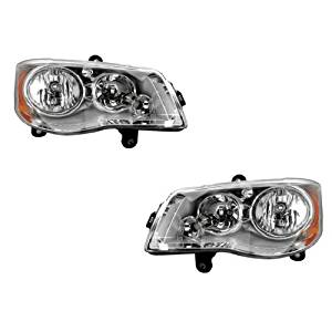 Chrysler Town and Country Headlights OE Style Replacement Headlamps Pair Left+Right Set