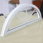 Aluminum alloy glass arched top PVC arch windows