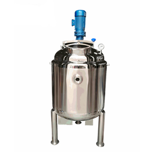 Stainless steel agitator jacketed electric heating paddle mixer tank