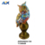 Colorful Hand Painted 3D Resin Owl Sculpture Home Garden Lawn Decoration