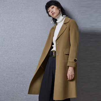 f4c7a76d6749aa 2018 Winter Korea Style Fashion Long Wool Pea Coat For Women - Buy ...