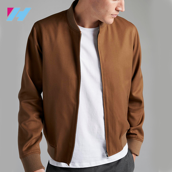 cf64f342f bomber jacket men custom winter coat customers brown jacket for men