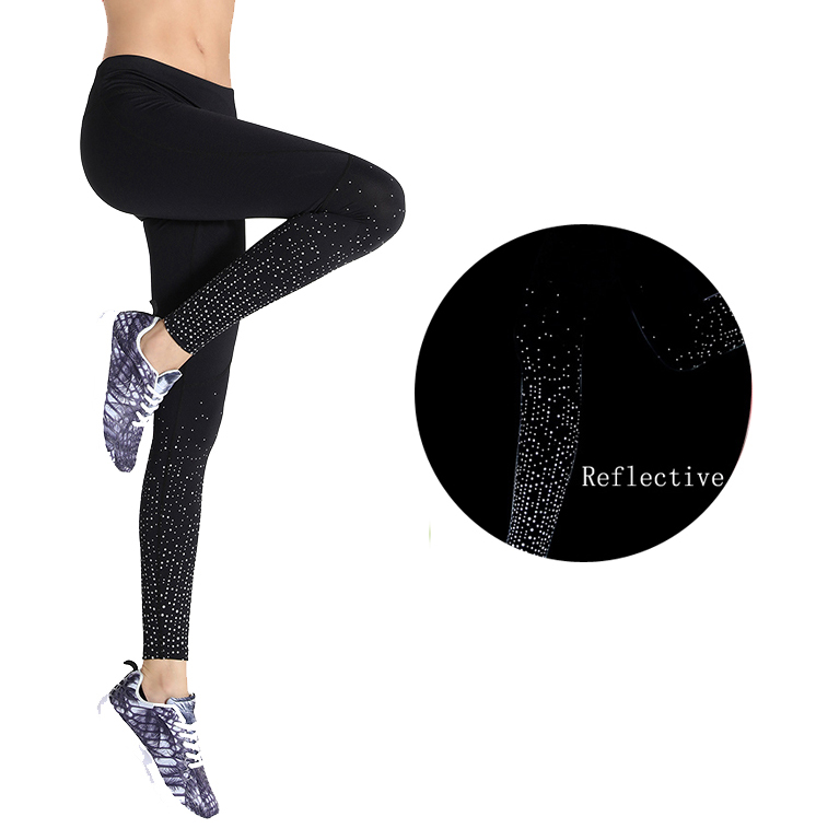 ec474d233c custom women tight yoga legging sexy girls wearing yoga pants with  reflective printing
