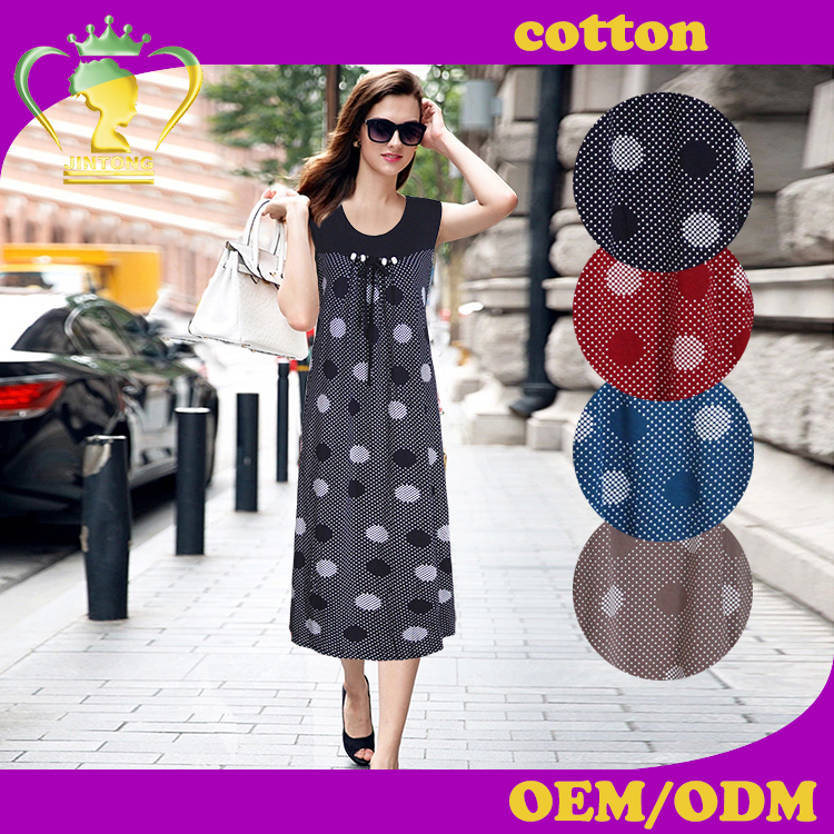 2016 Latest european cheap printed causal rayon dresses