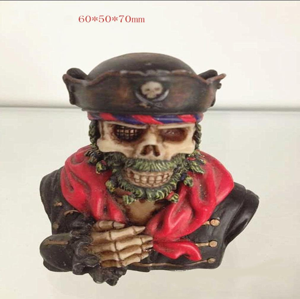 W&P Rob mummified skull ornaments of resin decorations Halloween Props art