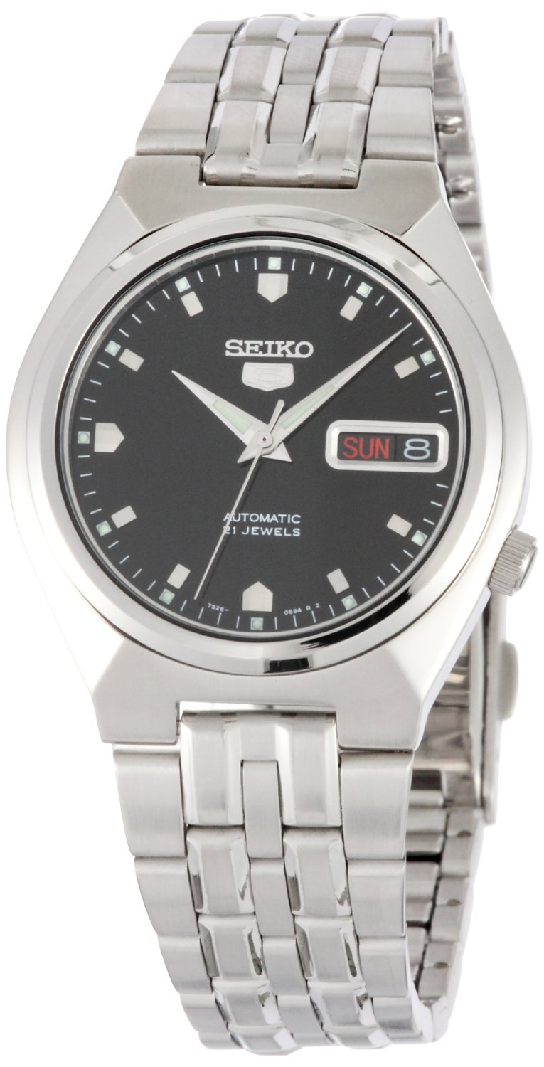 Seiko 5 #SNKL71 Men's Stainless Steel Black Dial Self Winding Automatic Watch