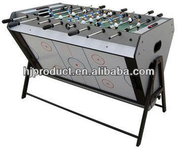 High Quality 3 In 1 Rotating Game Table Foosball Air Hockey Billiard Table