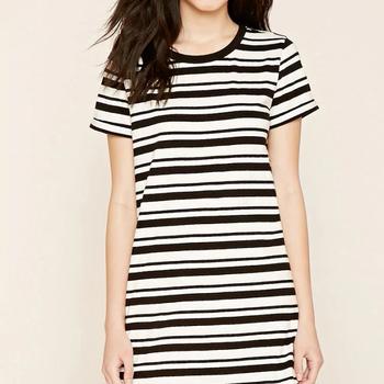 para de La camiseta Ropa de la última Vestido Vestidos verano baratos moda rayado mujer 0xBwtq0