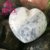 natural polished blue celestite heart shaped rocks for decor