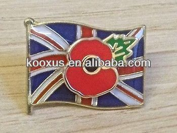 Glasgow Rangers Union Jack Red Poppy Lapel Pin Badge Heroes Medal - Buy  Poppy Badge,Poppy Pin Badge,Poppy Pin Product on Alibaba com