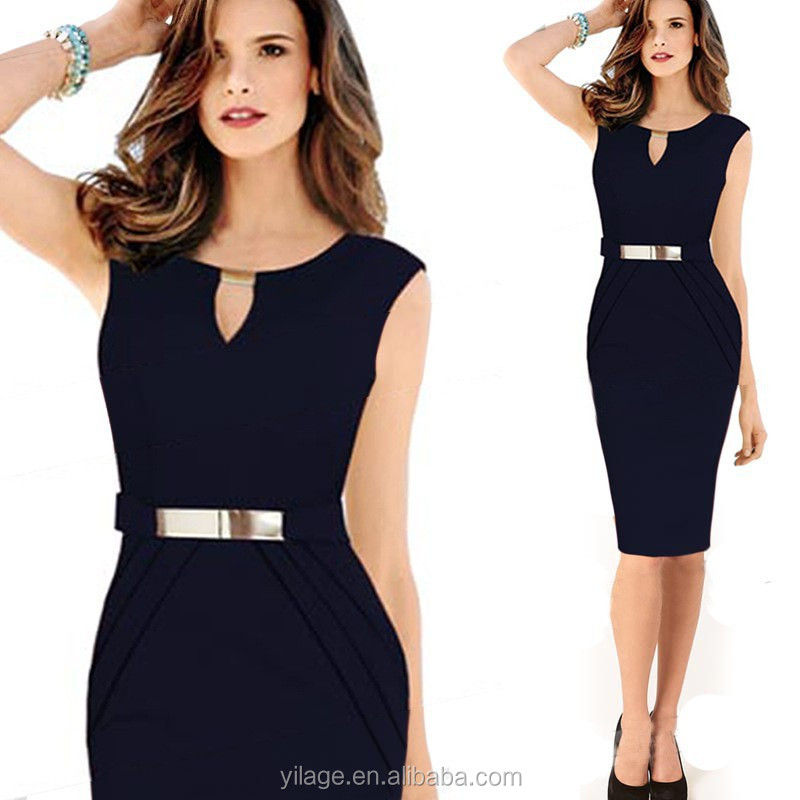Womens Elegant Slim Office Lady Pencil Bandage Dress Wear to Work LCD1359
