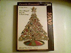Favorite Ornaments by Peggy Abrams Tree-Shaped Puzzle Adorned Tree Series 1000 Piece