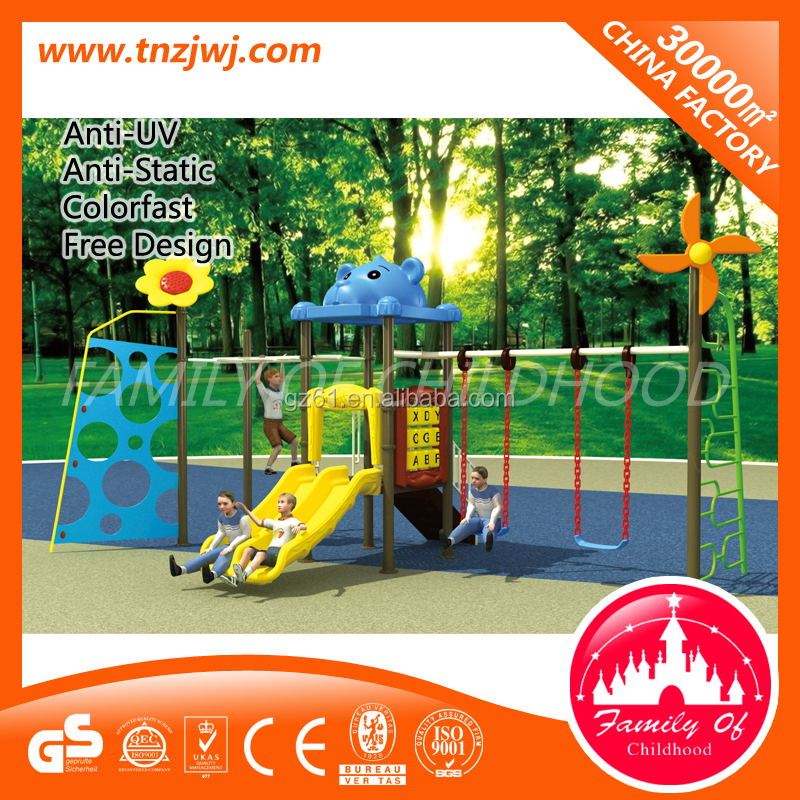 High quality outside double slide two seat garden swing