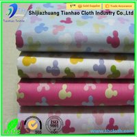 cotton printed wholesale textile fabric extra wide cotton bed sheet fabric