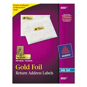 AVE8987 - Avery Foil Mailing Labels