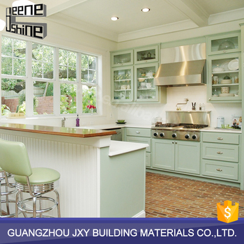 Unfinished modern pvc modular imported solid wood kitchen for China kitchen cabinets wholesale