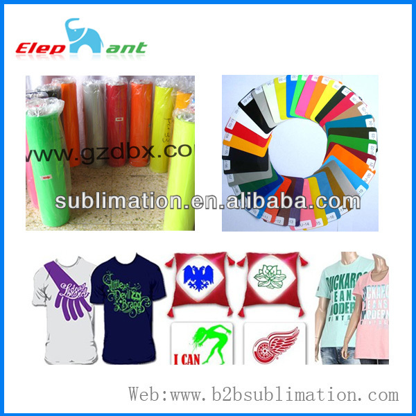 "Heat Applied Film Transfer vinyl 19.7""*27.34 yard roll Heat Press tshirt film"