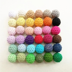 hand made Crochet wood teething beads safe for baby