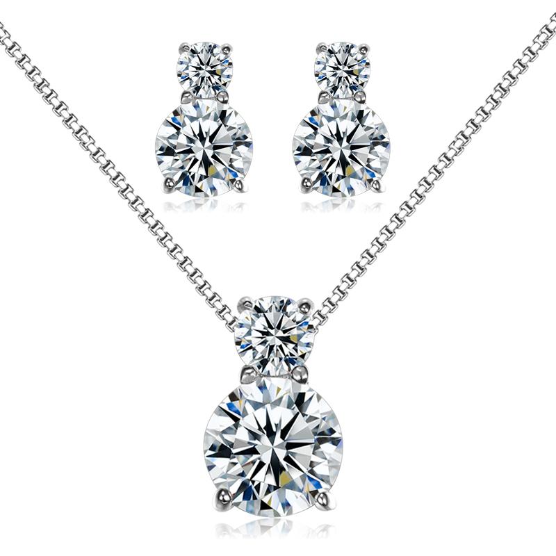1c1db038a335 18 pulgadas de cadena de plata de ley 925 joyería infinito diseño dos de  piedra de