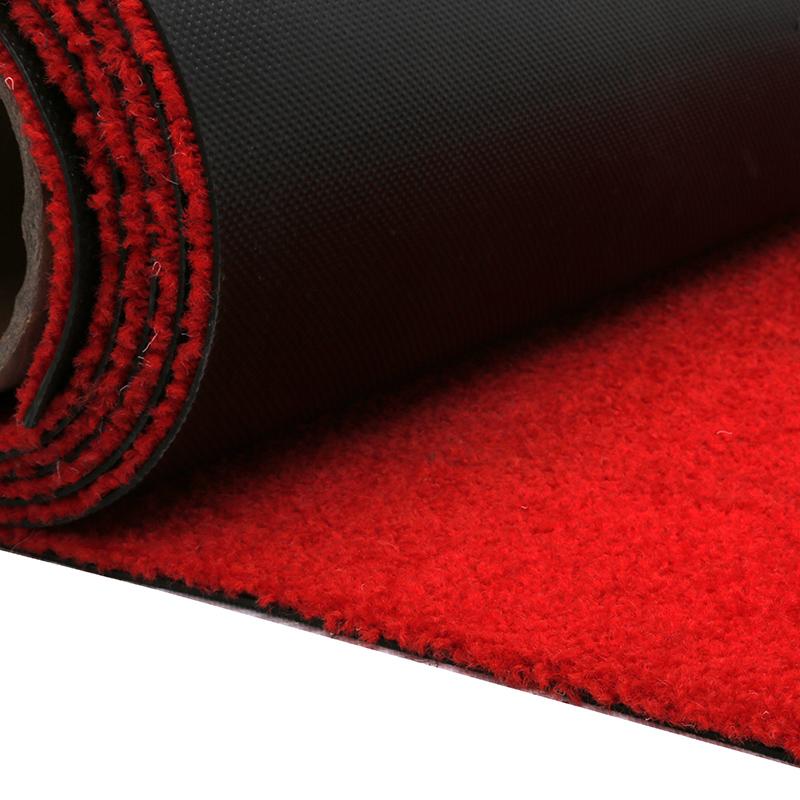 Rot hochzeit teppich mit nylon material