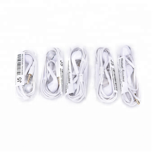 wholesale 3.5 mm plug wired stereo headphone in ear headset for Samsung S5 S4 Note 4 3 2 Earbud handsfree