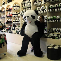 MOQ 20PCS free sample custom plush toys giant panda plush toy Wholesale Custom Plush Giant Panda Toy