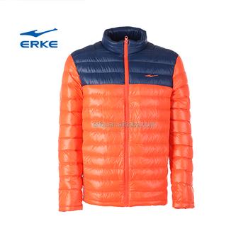ERKE Mens leggero e super caldo full zip inverno piumino imbottito giacca  packable con piuma per d8a81af1766