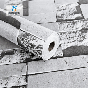 China pvc vinyl home decoration 3d brick wallpaper