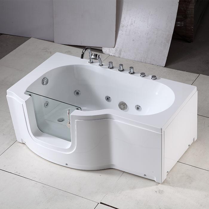 hs b004b spaziergang in badewanne f r alte menschen und behinderte badewanne mit glast r. Black Bedroom Furniture Sets. Home Design Ideas