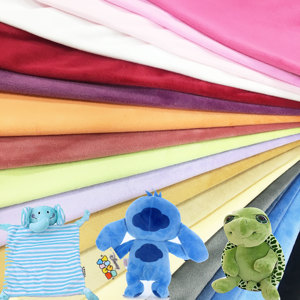 One Side Pile Plain Dyed Warp Knitting Fabric Super Soft Velvet Toys Raw Materials