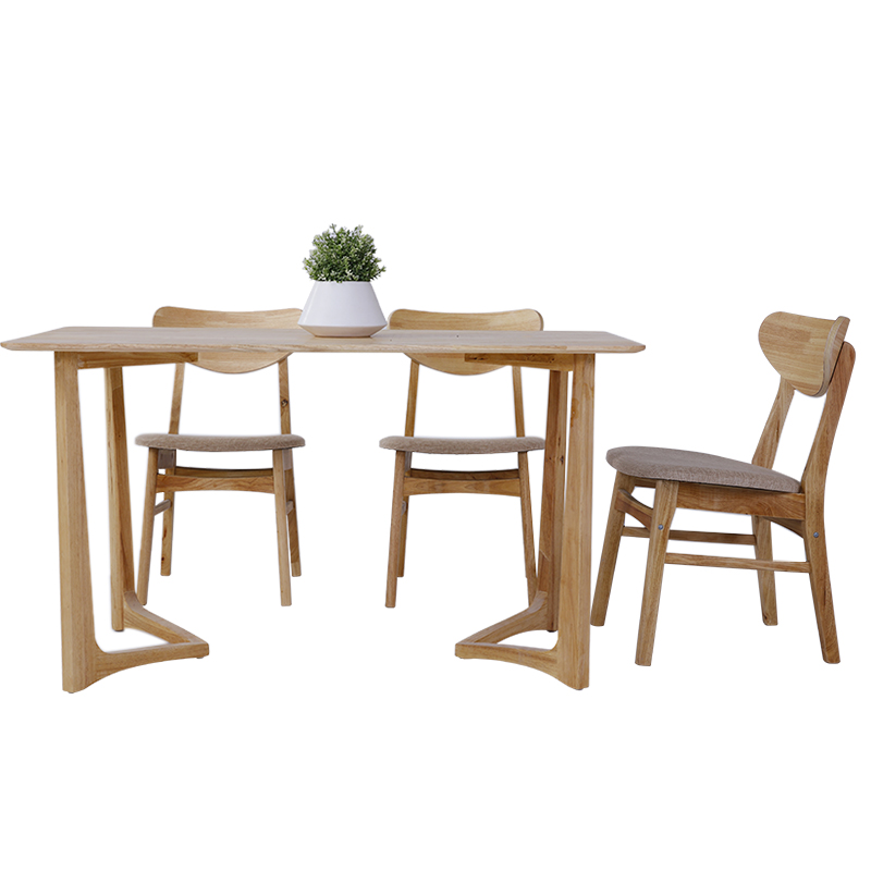 Modern Home Furniture Dining Room Dinner Table Sets Solid Wood Kitchen  Table And Chairs 6 Seats - Buy Dining Table Set,Wooden Table,Dining Table  ...