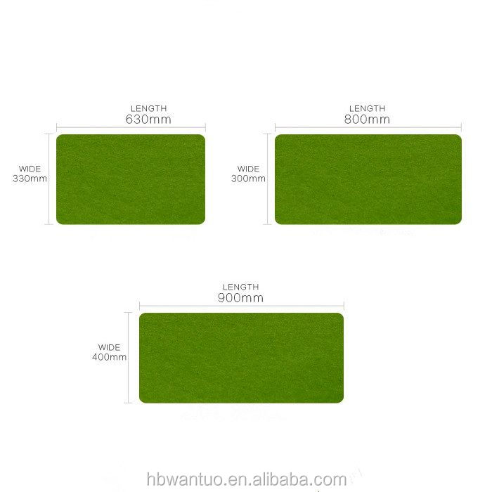 Eco Friendly Office Decor Desk Accessories Rectangular Computer Felt Mouse Pad