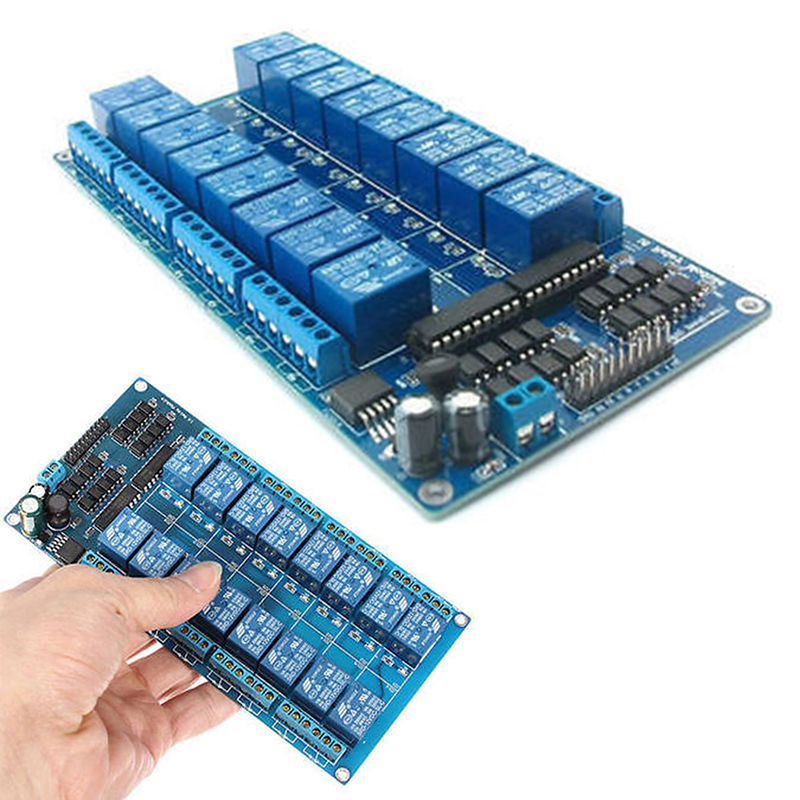 New 16 Channel Relay Module 12v With Lm2576 Power Supply And Optocoupler  Led - Buy Relay Board,16 Channel,12v Relay Product on Alibaba com