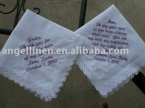 Pañuelo con rollo borde y hemstitches