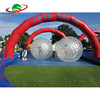 zorb ball car track set for rental business / super go kart car air track inflatable for party event