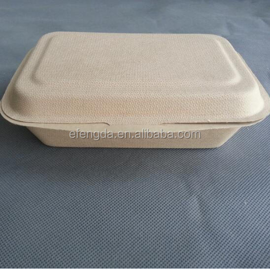 wheat straw pulp based biodegradable disposable fast food packaging box