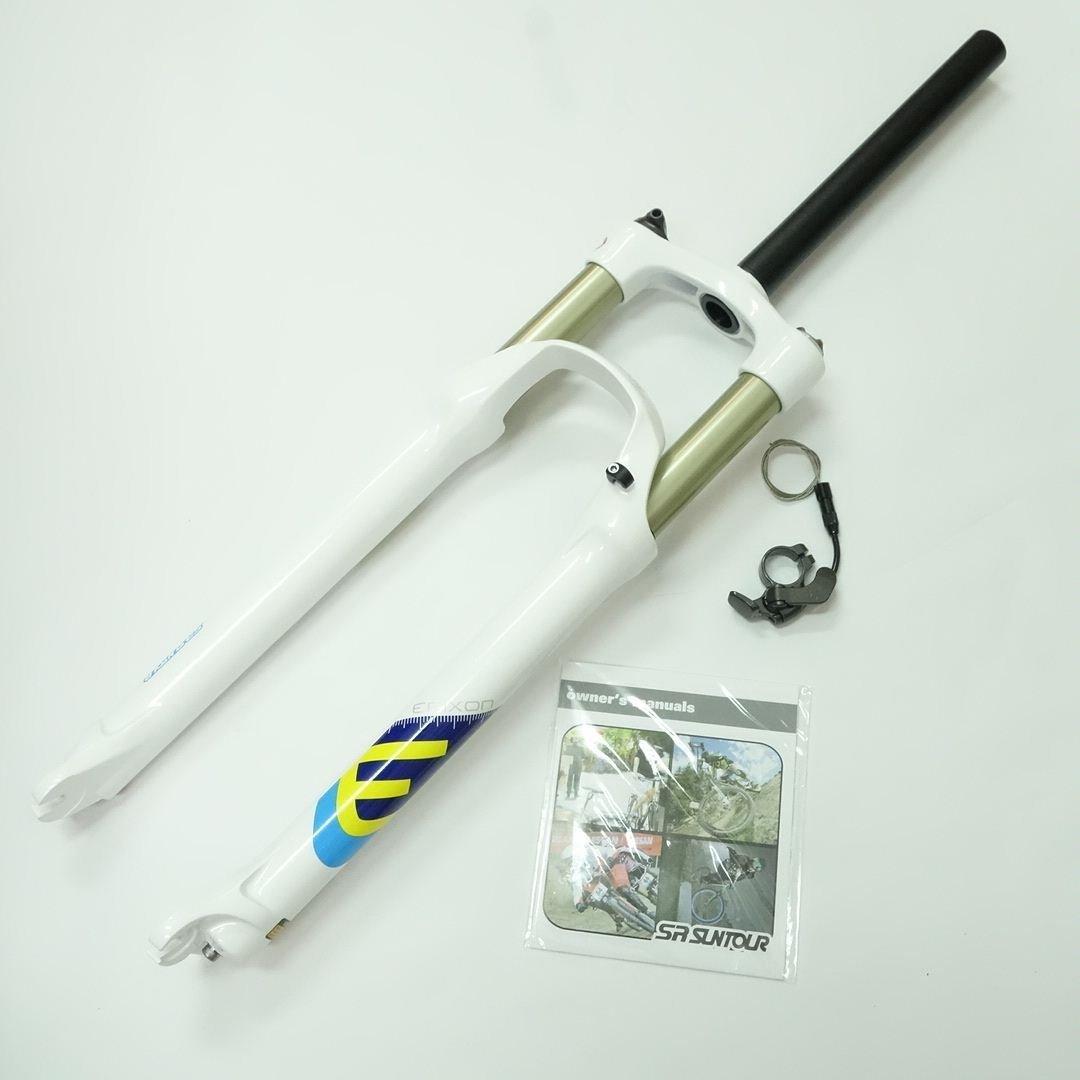 "SR Suntour Epixon Epicon XC MTB Fork (29"", 100mm, Remote Lockout, Air Spring, QR 9mm, White)"