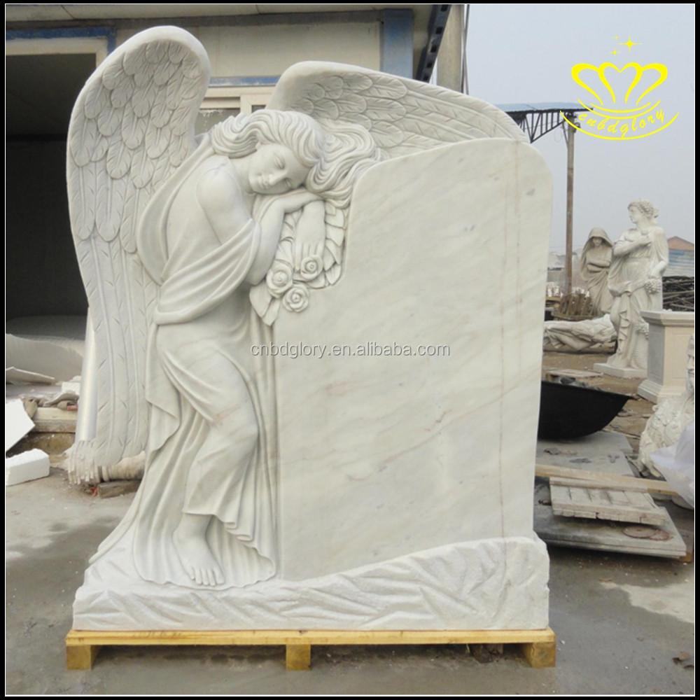 Customized Stone Angel Headstones Stone European Style