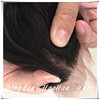 Top quality 100% human hair realistic silk base lace frontal closure