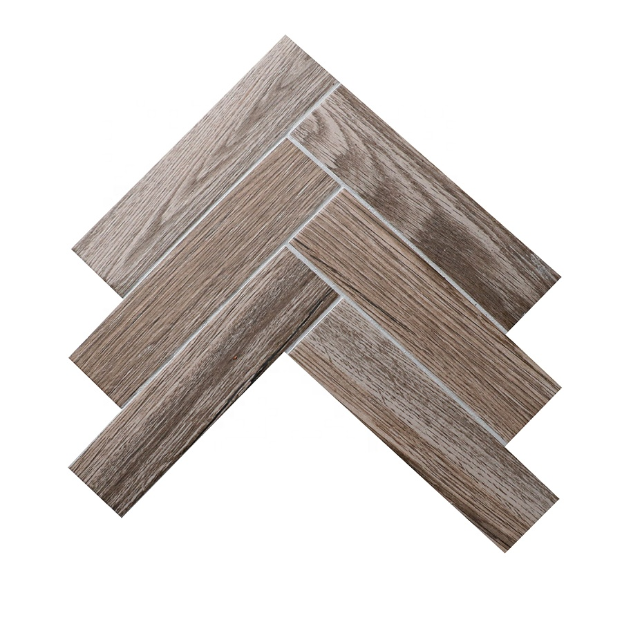 Oak mink meshed back cheapest gray ceramic tile wood <strong>grain</strong> anti skid wooden floor tiles