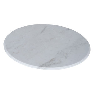 36x36 Bianco carrera marble slab hotel coffee bar dining modern round table top