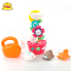 Baby toys Baby bath toy bathroom toys rubber duck Spinning Sunflower shower toys for baby tub bath toy organizer