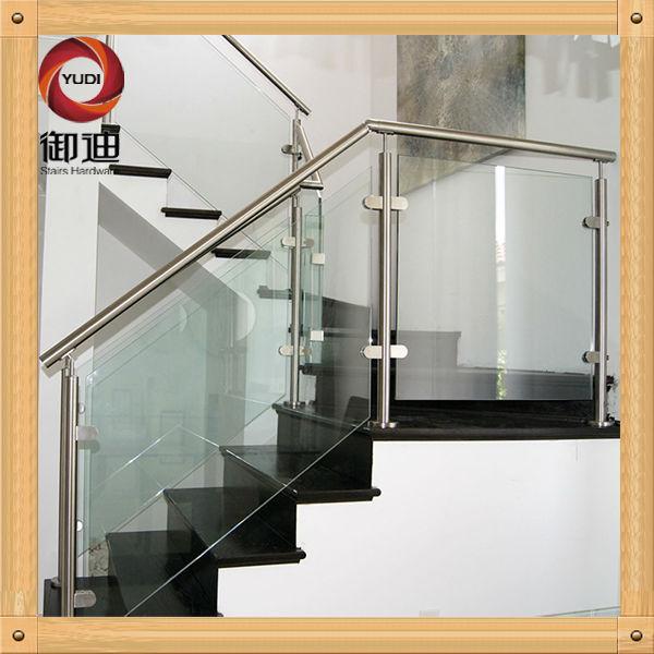 Vidrio de acero inoxidable barandilla de balaustres for Escalera exterior de acero galvanizado precio