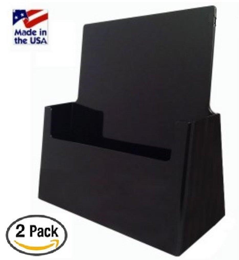 "Get Quotations · ShipHip 2 Pack Full Sheet 8 5"" x 11"" Black Brochure Holder Document Trade"